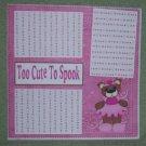 """Too Cute To Spook Princess""-Premade Scrapbook Page 12x12"