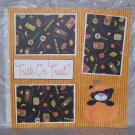 """Trick or Treat Bear In Pumpkin a""-Premade Scrapbook Page 12x12"