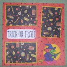 """Trick or Treat Witch""-Premade Scrapbook Page 12x12"