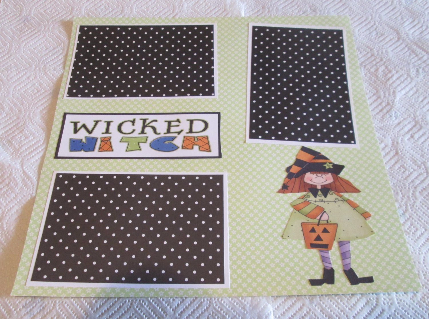 """Wicked Witch 1""-Premade Scrapbook Page 12x12"