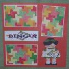 """Bingo Girl 1""-Premade Scrapbook Page 12x12"