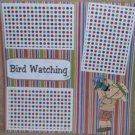 """Bird Watching""-Premade Scrapbook Page 12x12"