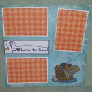 """I Love To Sew""-Premade Scrapbook Page 12x12"