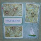 """Wave Runner""-Premade Scrapbook Page 12x12"