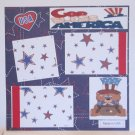 """God Bless America USA""-Premade Scrapbook Page 12x12"