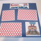 """God Bless America Boy bl2a""-Premade Scrapbook Page 12x12"