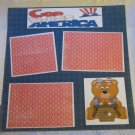"""God Bless America Girl Bl2a""-Premade Scrapbook Page 12x12"