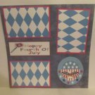 """""""Happy Fourth of July Circle""""-Premade Scrapbook Page 12x12"""