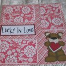 """Lucky In Love""-Premade Scrapbook Page 12x12"