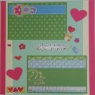 """May Love Surround You Always""-Premade Scrapbook Page 12x12"