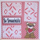 """So Smoochable Right a""-Premade Scrapbook Page 12x12"
