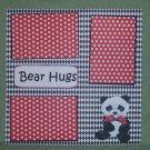 """Bear Hugs""-Premade Scrapbook Page 12x12"