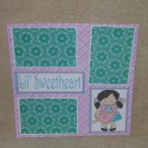 """""""Lil Sweetheart 1 bl""""-Premade Scrapbook Page 12x12"""