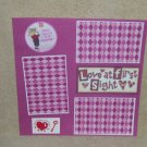"""""""Love At First Sight t""""-Premade Scrapbook Page 12x12"""