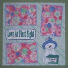 """""""Love At First Sight""""-Premade Scrapbook Page 12x12"""