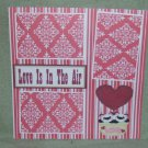 """Love Is In The Air a""-Premade Scrapbook Page 12x12"