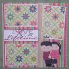 """""""Love of A Lifetime Black hair""""-Premade Scrapbook Page 12x12"""