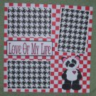 """""""Love of My Life""""-Premade Scrapbook Page 12x12"""
