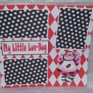 """My Little Luv Bug Bee""-Premade Scrapbook Page 12x12"