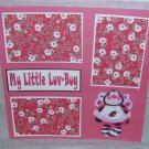 """""""My Little Luv Bug Bee a""""-Premade Scrapbook Page 12x12"""