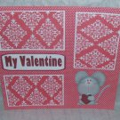 """""""My Valentine Mouse""""-Premade Scrapbook Page 12x12"""