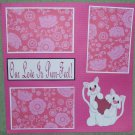 """""""Our Love Is Purr-fect""""-Premade Scrapbook Page 12x12"""