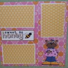 """Sweet As Honey""-Premade Scrapbook Page 12x12"