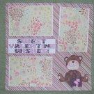 """""""Sweet Valentine Wishes Boy""""-Premade Scrapbook Page 12x12"""