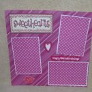 """""""Sweethearts t""""-Premade Scrapbook Page 12x12"""