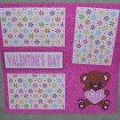 """Valentine's Day Love""-Premade Scrapbook Page 12x12"