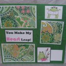 """""""You Make My Heart Leap""""-Premade Scrapbook Page 12x12"""