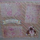 """""""You're So Beary Cute""""-Premade Scrapbook Page 12x12"""