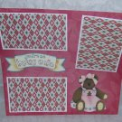 """""""You're So Beary Cute a""""-Premade Scrapbook Page 12x12"""