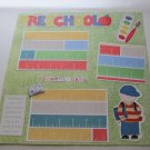"""""""Preschool Boy""""-Premade Scrapbook Page 12x12"""
