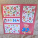 """""""Back To School Bear a""""-Premade Scrapbook Page 12x12"""