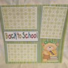 """""""Back To School Girl 1z""""-Premade Scrapbook Page 12x12"""