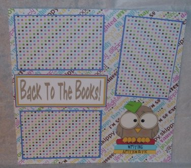 """""""Back To The Books""""-Premade Scrapbook Page 12x12"""