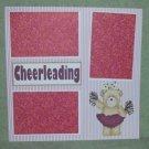 """Cheerleading cs""-Premade Scrapbook Page 12x12"