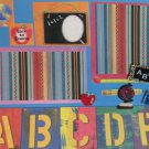 """""""Back To School ABC""""-Premade Scrapbook Page 12x12"""