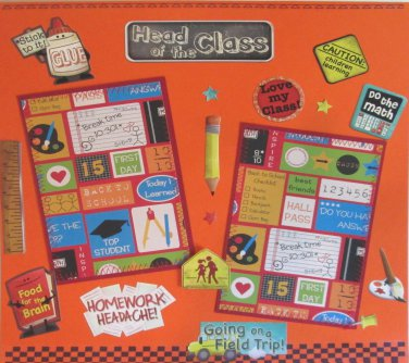 """Head of The Class 8d""-Premade Scrapbook Page 12x12"