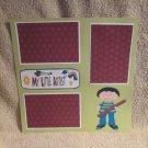 """""""My Little Artist Boy""""-Premade Scrapbook Page 12x12"""