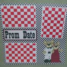 """Prom Date""-Premade Scrapbook Page 12x12"