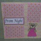 """Prom Night Girl""-Premade Scrapbook Page 12x12"