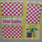 """School Buddies""-Premade Scrapbook Page 12x12"