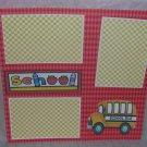 """""""School Bus""""-Premade Scrapbook Page 12x12"""