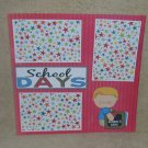 """School Days Boy 2""-Premade Scrapbook Page 12x12"