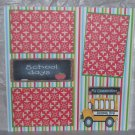 """School Days Bus""-Premade Scrapbook Page 12x12"