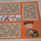 """School Days Girl 2""-Premade Scrapbook Page 12x12"