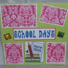 """School Days z""-Premade Scrapbook Page 12x12"