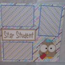 """Star Student""-Premade Scrapbook Page 12x12"
